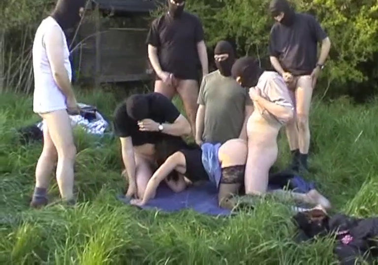 Slut Wife Marion Gang-banged In The Fields By Total Strangers While Her Cuck Husband Is Filming The Scene