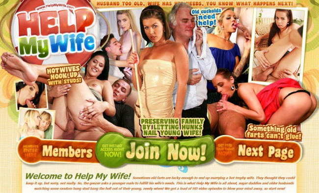 HelpMyWife.com SiteRip - These Cuckold Old Guys Like To Watch Their Hot Young Trophy Wives Getting Fucked By Younger Studs.