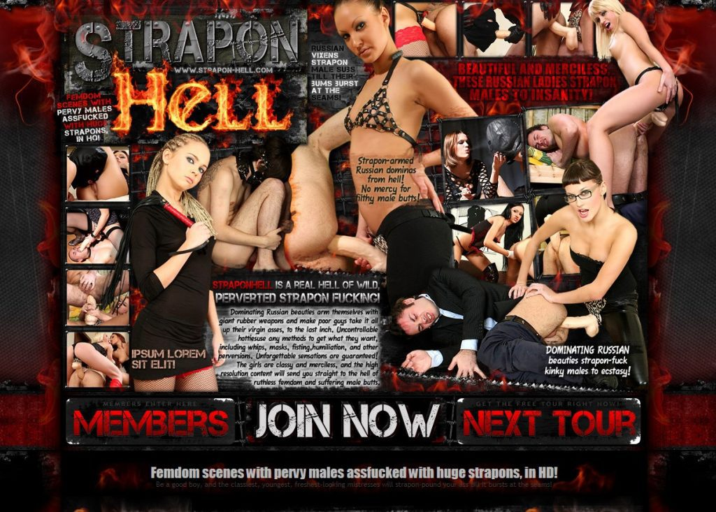 StraponHell.com SiteRip - Femdom Strapon Pegging Videos. Beautiful And Cruel Russian Mistresses Dominating And Strapon Pegging Submissive Guys. Streaming Videos With English Translation.